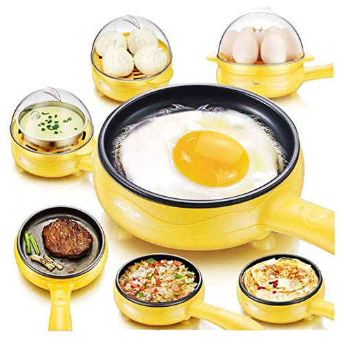 Dash Electric Skillet Frying:Pan Steam Eggs Cooker,Fried Steak,Sandwich,Breakfast Electric Mini Non Stick Frying Pan With Steam Egg Boiler Auto Shut Off Feature
