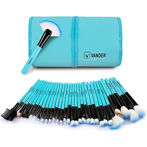Makeup brushes set By Vander (32 Blue)