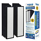 VEVA Premium HEPA Replacement Filter 2 Pack Including 6 Carbon Pre Filters Compatible with Air Purifier AC5000 Series and Filter C