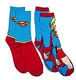Womens DC Comics Supergirl 2pk Socks