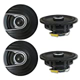 4 x Polk Audio MM 6.5 inch 2-way Car Marine audio Boat Motorcycle Coaxial Speakers 6-1/2'