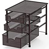 Simple Houseware Stackable 3 Tier Sliding Basket Organizer Drawer, Bronze