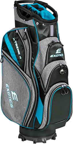 Tour Edge Male Exotics Xtreme4 Cart Bag (Men's, Exotics Extreme 4 Cart Bag Gray Scratch Plaid/Blue