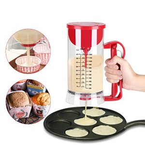 Pancake Cupcake Batter Dispenser, Batter Mixer Dispenser Maker Machine 1200ML Cake Batter Dispenser and Mixing System 51bri2VrAUL
