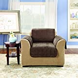 SureFit  Deluxe Pet Chair Furniture Cover, Chocolate