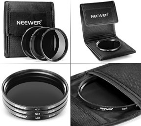 Neewer-49MM-Lens-Filter-and-Accessory-Kit-Includes-UV-CPL-FLD-Filters-Macro-Close-Up-Filter-Set1-2-4-10-ND2-ND4-ND8-Filters-Pouch-Cap-Hood-Fit-for-Sony-Alpha-A3000-NEX-Series-DSLR-Cameras