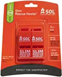 S.O.L. Survive Outdoors Longer Slim Rescue Howler Whistle (2-Count)