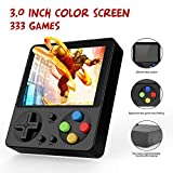 Ruihoxin Handheld Game Console, 333 Classic Games 3.0 inch HD LCD Screen Portable Video Game, Retro Game Console can be Played on TV, Good Gift for Children and Adults, Gifts. (Black)