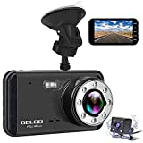 Dash Cam, GELOO 1080P 4.0 Inch Dual Car Dashboard Camera Front and Rear, 170 Wide Angle Car DVR Dashboard Camera Recorder with Night Vision, G-Sensor, Parking Mode, Motion Detection, Loop Recording