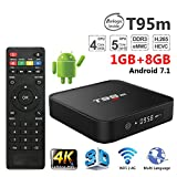 ESHOWEE T95M TV Box Android 7.1 Amlogic S905X Quad Core 64Bit 1GB 8GB 2.4GHz WiFi Support 4K HD