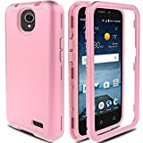 ZTE Maven 3 Case, ZTE Overture 3 Case, ZTE Prestige 2/Prelude Plus 4G LTE Case AMENQ Hybrid 3 IN 1 Heavy Duty Shockproof Protection Rugged Rubber Silicone Armor Cover for ZTE Android Phone (Rose Gold)