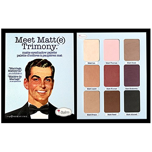 51c1ZT6aYUL Need an eyeshadow palette that's perfect for any occasion? The Meet Matte Trimony Eyeshadow palette by the Balm Cosmetics is just that A variety of colors that work for any and all occasions the Balm designs products that have multiple uses and are mega fabulous products