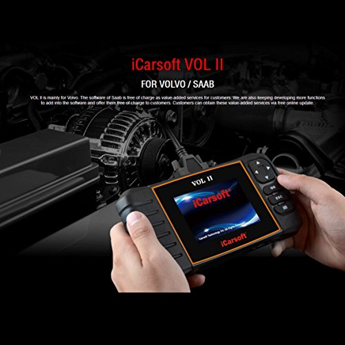 iCarsoft Volvo/SAAB OBD-II multi systems Scanner Tool, SRS ABS Engine oil reset, EPB i906-II New version
