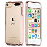 ULAK iPod Touch 6 Case,iPod Touch 5 Case, Clear Slim Hybrid Premium Clear Bumper TPU/Scratch Resistant Hard PC Back Cover/Corner Shock Absorption Case for Apple iPod Touch 5 6th Gen_Rose Gold