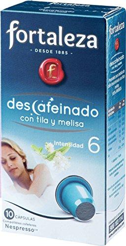 Caf-FORTALEZA-Cpsulas-de-caf-Descafeinado-Tila-y-Melisa-Compatibles-con-Nespresso-Pack-5-x-10-Total-50-Cpsulas
