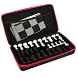 AT MOUSE Chess Set Silicone with Tournament Chess Game Pieces & Board Mat Portable Outdoor Package Case