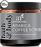 ArtNaturals Arabica Coffee Body Scrub (20 Oz / 567g) - Exfoliating Facial Treatment for Varicose Veins, Cellulite, Stretch Marks Spider Vein - Deep Skin, Butt, legs and Face Sugar Exfoliator with Caffeine