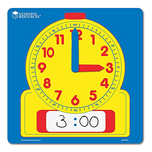 Learning Resources Write & Wipe Demonstration Clock
