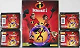 Incredibles 2 Sticker Album and 4 Packs of Stickers Bundle