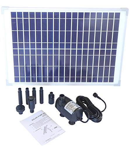 Solariver Solar Water Pump Kit - 400+GPH Submersible Pump and 20 Watt Solar Panel for Sun Powered Fountain, Waterfall, Pond Aeration, Hydroponics, Aquarium, Aquaculture (No battery backup)