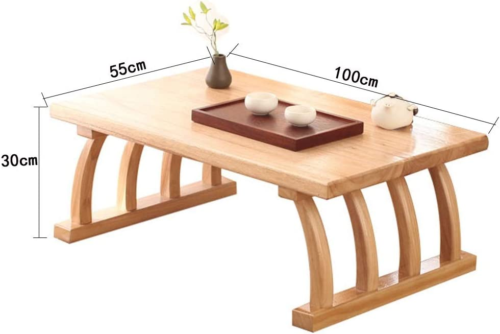 Wenhui Solid Wood Small Coffee Table Square Tatami Table Storage Basket 2 Sponge Cushions Living Room Furniture Size 70cm Amazon Co Uk Kitchen Home