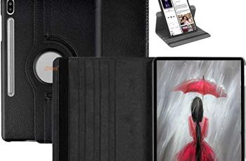 Zitel® 360 Degree Rotating Case for Samsung Tab S6 10.5 inch Cover 2019 Model SM-T860/T865 (Will Not Fit on Samsung Tab S6 Lite 10.4 SM-P610 SM-P615) with Auto Sleep/Wake – Black