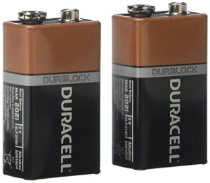 Duracell Coppertop Alkaline 9V Batteries