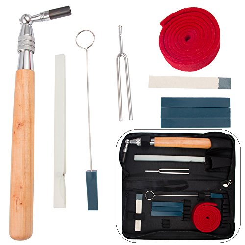Luvay Piano Tuning Kit Tools (10 items) Professional Hammer/Lever, (Felt) Mutes, Fork