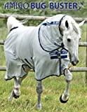 Product review for Amigo Bug Buster Vamoose Horse Fly Sheet with No-Fly Zone (84, Silver/Navy)