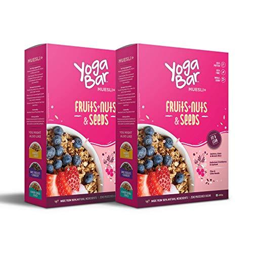 Yogabar Wholegrain Breakfast Muesli Fruits, Nuts + Seeds, 400g 1  Yogabar Wholegrain Breakfast Muesli Fruits, Nuts + Seeds, 400g 51cCNkUGEVL