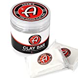 Adam's Clay Bar Jar 2 100g Detailing Bars - Super Soft, Ultra Fine Grade Material - Removes Light Contamination and Grime with Ease
