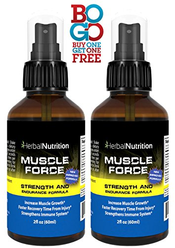 #1 Rated MUSCLE FORCE Strength and Endurance Spray!| Two Bottle Pack!|200mg Proprietary Growth Formula|Improve Strength and Recovery|2 oz Spray Bottle|30-Day Supply