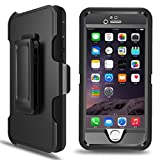 iPhone 6 Plus Case, iPhone 6s Plus Defender Case with Belt Clip, Kickstand, Holster, Heavy Duty, Built-in Screen Protector Rugged Rubber Case Compatible with iPhone 6 Plus/6s Plus(5.5')