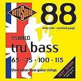 Rotosound RS88LD Black Nylon Flatwound Bass Guitar Strings (65 75 100 115)