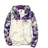 Banana Bucket Floral Bomber Jacket Men Hip Hop Slim Fit Flowers Bomber Jacket Coat Men's Hooded Jackets(US L) Label Size 3XL