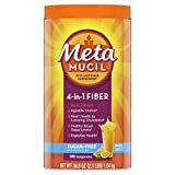 Metamucil Fiber, 4-in-1 Psyllium Fiber Supplement, Sugar-Free Powder, Orange Flavored Drink, 180 Servings (Packaging May Vary)