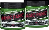 Manic Panic Electric Lizard Green Hair Color Cream (2-Pack) Classic High Voltage Semi-Permanent Hair Dye. Vivid Green Shade For Dark, Light Hair. Vegan, PPD & Ammonia-Free Ready-to-Use No-Mix Coloring