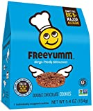 Gluten Free Vegan Cookies, FreeYumm Double Chocolate Chip Cookies, Safe for School Allergen Free Snacks for Kids, 21 Total Cookies