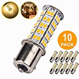 10 Pcs Extremely Super Bright 1156 1141 1003 BA15S 68-SMD LED Replacement Light Bulbs for RV Indoor Lights(10-Pack, Warm White (3000K-3500K Color Temputure))