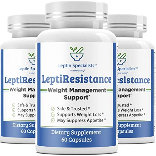 Leptin Resistance Supplement (Powerful Weight Management) w/Milk Thistle, Turmeric, Berberine & Ginger for Women and Men - Promotes Healthy Liver Detox and Colon Cleanser - 180 Diet Pills - 3 Bottles 3