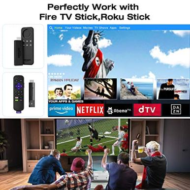 Video-Projector-TOPVISION-5500L-Portable-Mini-Projector-with-100-Projector-Screen-1080P-Supported-Built-in-HI-FI-Speakers-Compatible-with-Fire-Stick-HDMI-VGA-USB-TF-AV-PS4