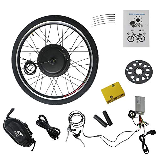 "TOYEEKA 26"" Front Wheel 48V 1000W Electric Battery Powered Bicycle Motor Conversion Kit E-Bike Conversion Kit E-Bike Conversion Kit Electric Bicycle Motor Kit Bicycle Accessories Set"