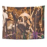 Tarolo Decor Wall Tapestry New Orleans Louisiana USA June 24 Museum of The History Voodoo Cult in French Quarter Famous Landark 80 x 60 Inches Wall Hanging Picnic for Bedroom Living Room Dorm