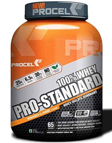 PROCEL® Pro-Standard 100% Whey Protein Isolate Powder with Hydrolyzed Whey Peptides 2kg (Mango Lassi) w/Free Shaker