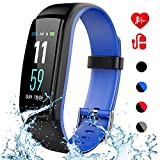 Mgaolo Fitness Tracker with Blood Pressure Heart Rate Sleep Monitor,IP68 Waterproof Activity Tracker Smart Watch with Pedometer Calorie Step Counter Compatible with iPhone and Android Phones (Blue)