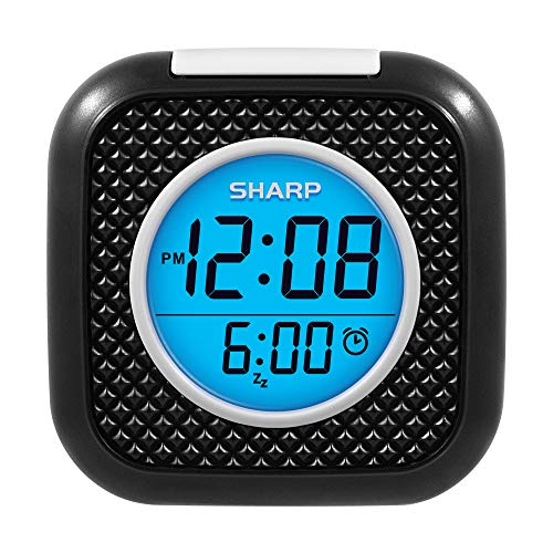 SHARP Pillow Personal Alarm Clock – Wake to Vibration or Beep! - Use on Nightstand or Under Pillow! – Great for Travel or Home Use - Black