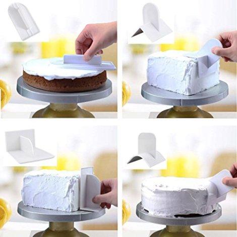 Goffratrice torta spatola e cutter 6 pz