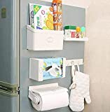 Istore Magnetic 5 in 1 Fridge Storage Rack, Refrigerator Organizer