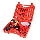 Copap 16PCS Brake Bleeder & Vacuum Pump Test Tuner Tool Kit Hand Held Vacuum Gauge for Car & Truck