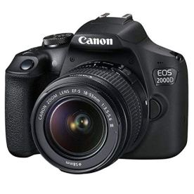 Canon-EOS-2000D-Rebel-T7-DSLR-Camera-w-18-55mm-F35-56-III-Lens-32GB-SD-Card-More